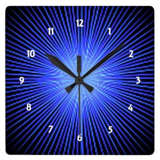 Círculo azul del alcohol reloj cuadrado