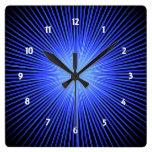 Círculo azul del alcohol reloj de pared