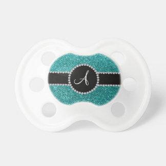 Círculo azul del diamante del brillo del huevo del chupetes de bebe