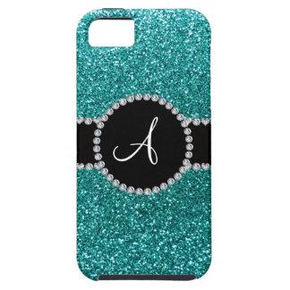 Círculo azul del diamante del brillo del huevo del iPhone 5 Case-Mate coberturas