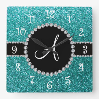 Círculo azul del diamante del brillo del huevo del relojes