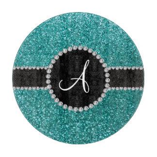 Círculo azul del diamante del brillo del huevo del tabla para cortar