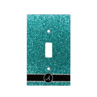 Círculo azul del diamante del brillo del huevo del cubiertas para interruptor