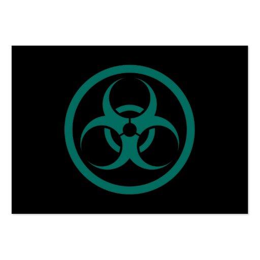 Círculo azul y negro del trullo bio del peligro tarjetas de visita
