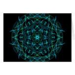 Círculo azulverde tarjetas