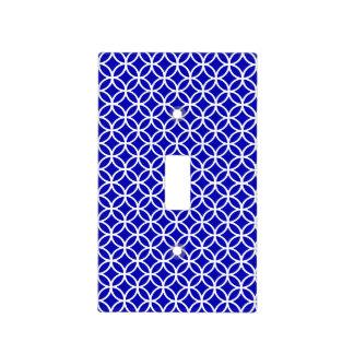 Círculo blanco azul de la vida cubiertas para interruptor