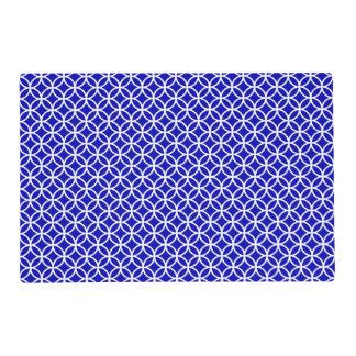 Círculo blanco azul de la vida tapete individual