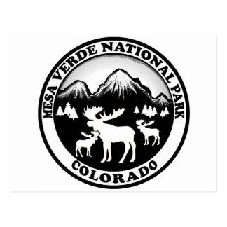 Círculo blanco negro de Colorado del parque Postal