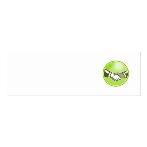 Círculo blanco negro del grabar en madera del apre tarjetas de visita mini