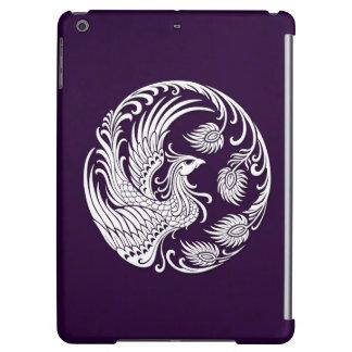 Círculo blanco tradicional de Phoenix en púrpura