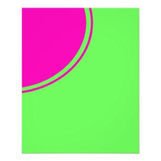 """Círculo brillante de la MOD del rosa de la verde l Folleto 4.5"""" X 5.6"""""""