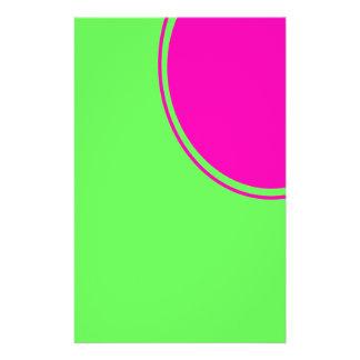 """Círculo brillante de la MOD del rosa de la verde l Folleto 5.5"""" X 8.5"""""""
