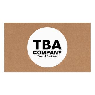 Círculo - caja de cartón tarjetas de visita