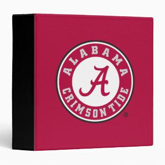 """Círculo carmesí de la marea de Alabama Carpeta 1 1/2"""""""