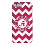 Círculo carmesí de la marea de Alabama Funda Barely There iPhone 6