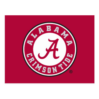 Círculo carmesí de la marea de Alabama Tarjetas Postales