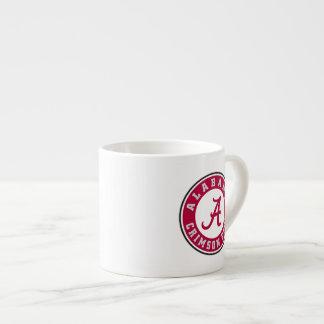 Círculo carmesí de la marea de Alabama Taza Espresso