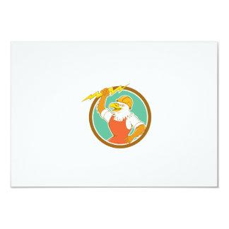 """Círculo Carto del rayo del electricista de Eagle Invitación 3.5"""" X 5"""""""