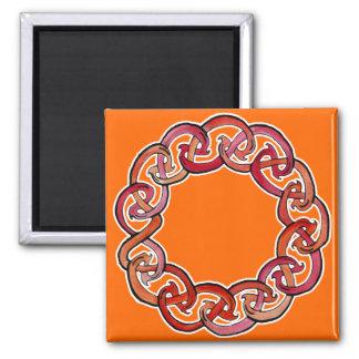 Círculo céltico del fuego iman para frigorífico