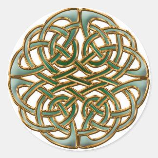 Círculo céltico pegatina redonda