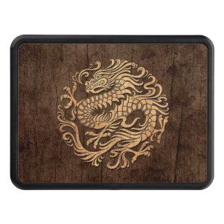 Círculo chino del dragón con el efecto de madera tapa de remolque