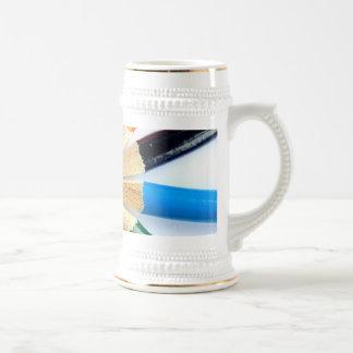 Círculo coloreado del lápiz jarra de cerveza