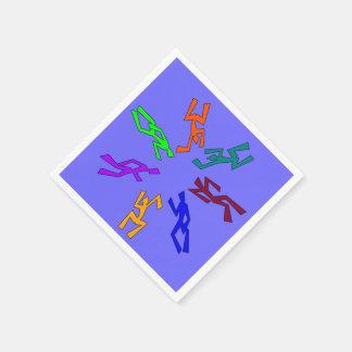 Círculo coloreado multi de bailarines servilleta desechable