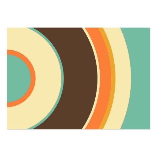 Círculo colorido 02 plantilla de tarjeta de visita