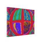 Círculo colorido impresión en lienzo estirada