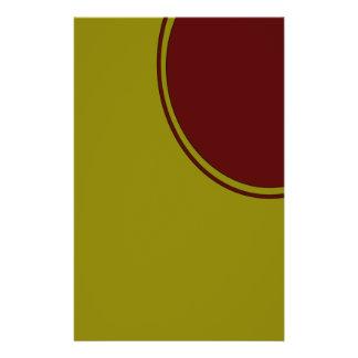 """Círculo colorido moderno folleto 5.5"""" x 8.5"""""""