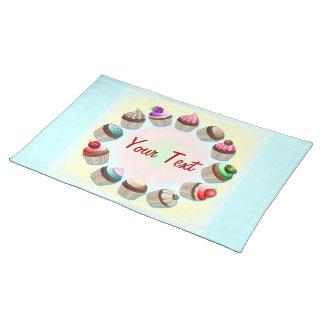 Círculo colorido Placemats de las magdalenas Manteles