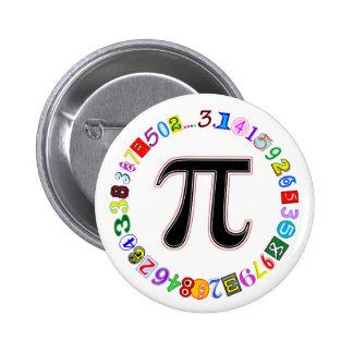 Círculo colorido y de la diversión del pi calculad