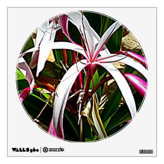 Círculo con la flor del lirio (Hymenocallis Specio Vinilo