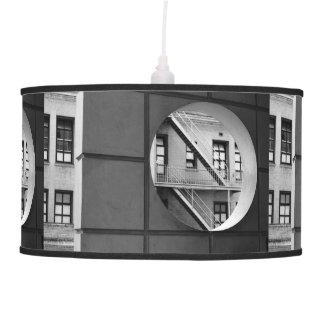 Círculo con la salida de incendios lámpara de techo