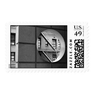 Círculo con la salida de incendios - medio timbres postales
