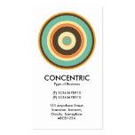 Círculo concéntrico colorido 02 tarjetas de visita