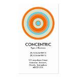 Círculo concéntrico colorido 03 plantillas de tarjetas de visita