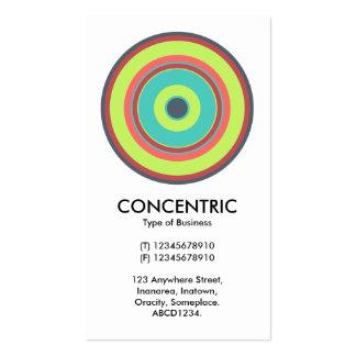 Círculo concéntrico colorido 04 plantilla de tarjeta de negocio