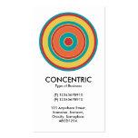 Círculo concéntrico colorido 05 tarjetas de visita