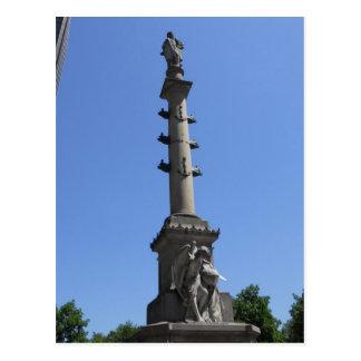 Círculo conmemorativo Manhattan NY de Columbus Col Postales
