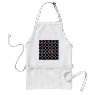 Círculo cruzado psicodélico del arco iris geométri delantales