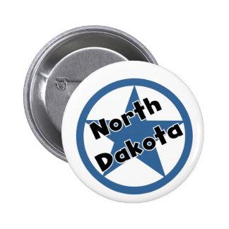 Círculo Dakota del Norte Pin Redondo De 2 Pulgadas