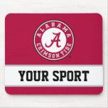 Círculo de Alabama con deporte de encargo Tapetes De Ratón