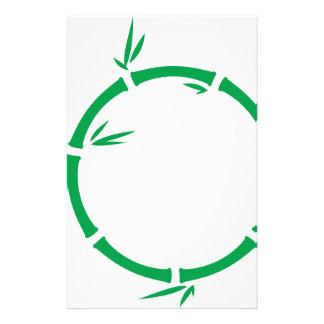 Círculo de bambú papelería de diseño