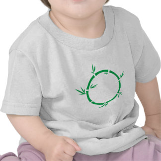 Círculo de bambú camiseta