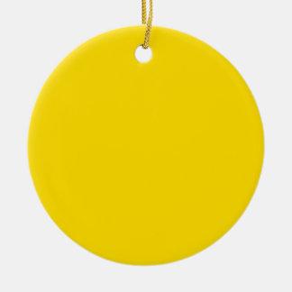 Círculo de color amarillo adorno