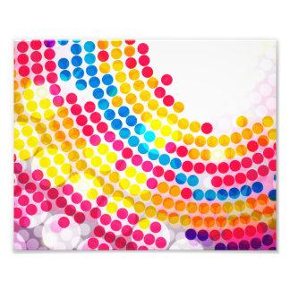 Círculo de color colorido impresion fotografica