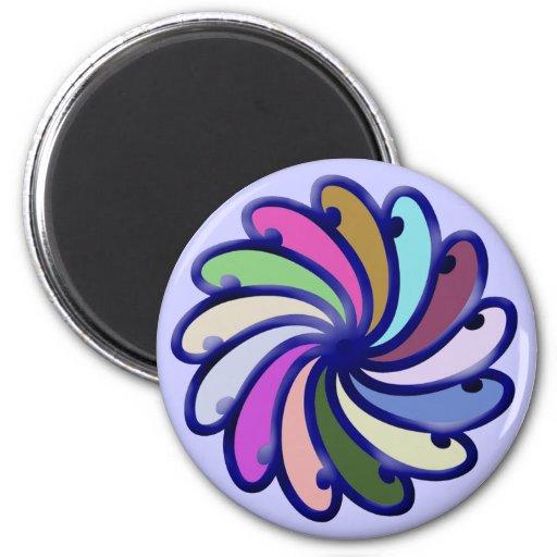 Círculo de color de Twirly Imán De Frigorifico