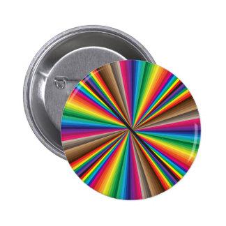 Círculo de color giratorio de la fan pin redondo de 2 pulgadas