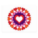 Círculo de corazones tarjeta postal